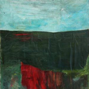 Antonio Panzuto - Paesaggio con macchia rossa