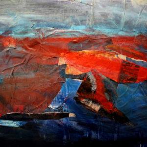Antonio Panzuto - Paesaggio marino al tramonto