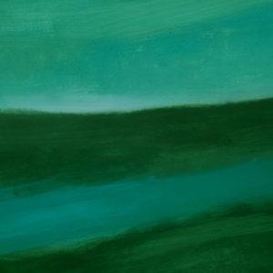 Antonio Panzuto - Paesaggio verde con macchia azzurra