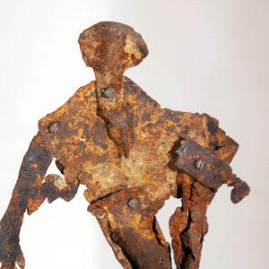 Antonio Panzuto - sculture Ruggini - Figura danzante 3 - Rusty sculpture Dancing figure