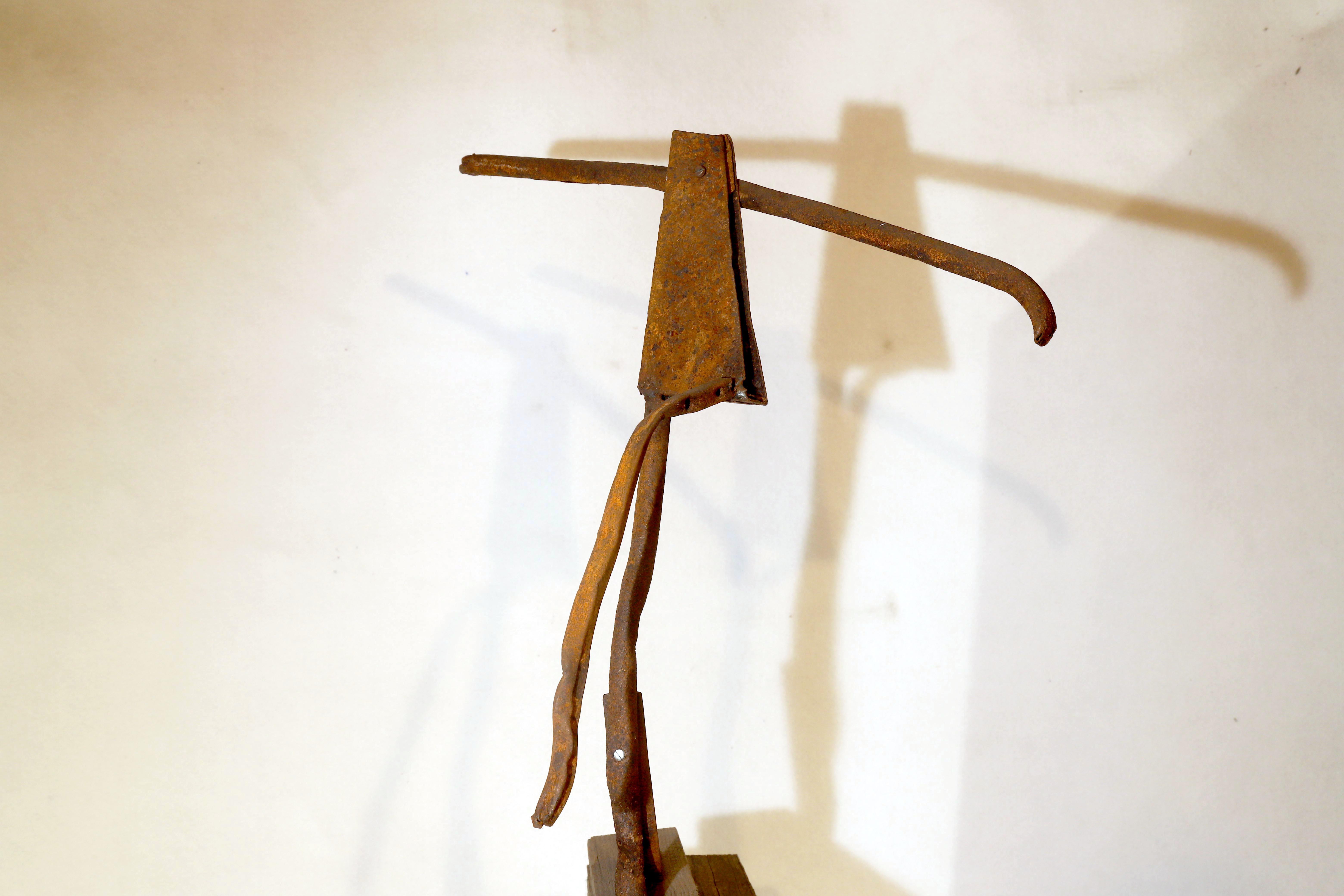 Antonio Panzuto - Ruggini - Figura danzante 1 - Rusty sculpture Dancing figure