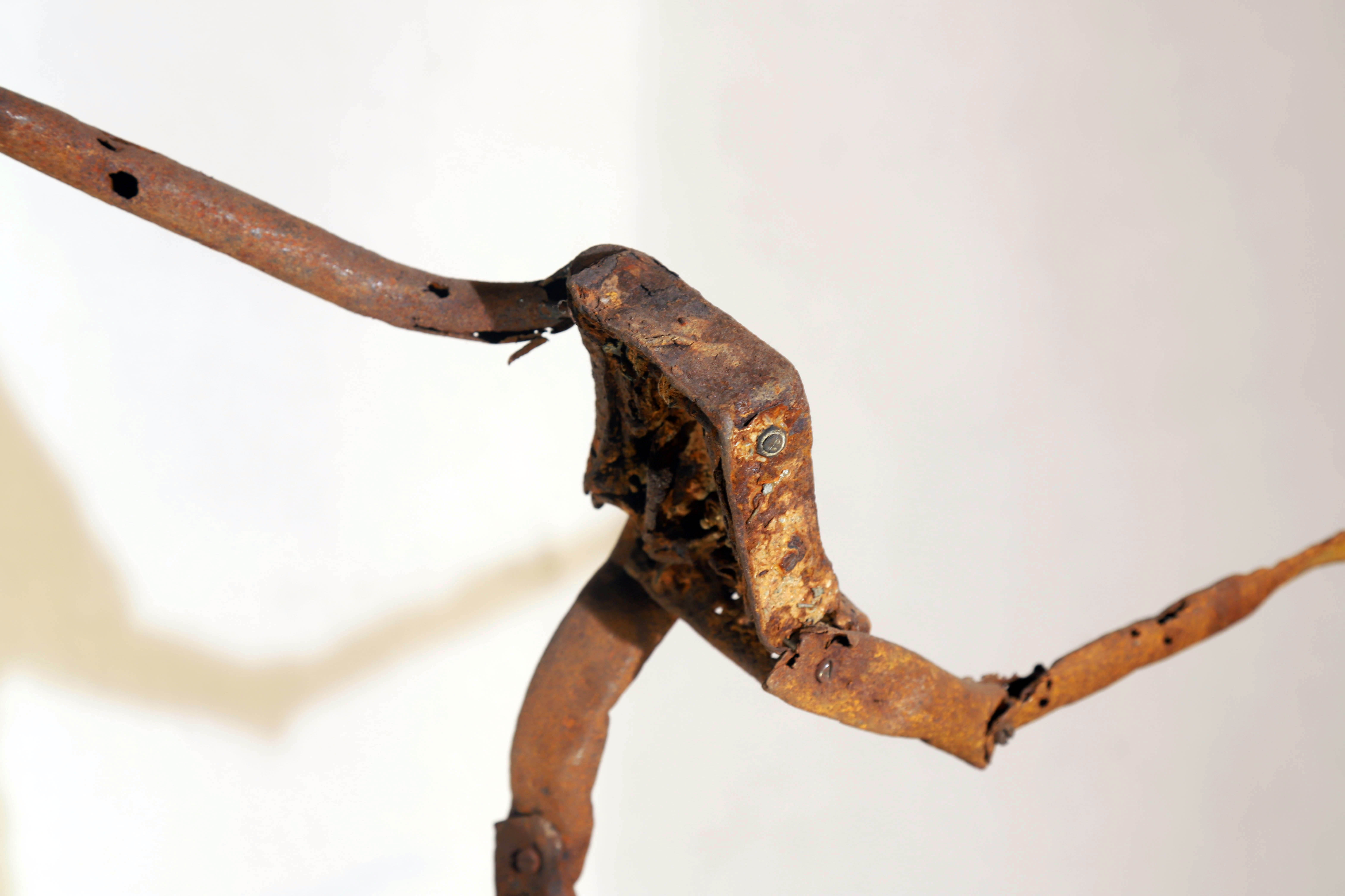 Antonio Panzuto - sculture Ruggini - Figura danzante 2 - Rusty sculpture Dancing figure