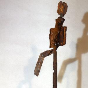Antonio Panzuto - sculture Ruggini - Figura danzante 4 - Rusty sculpture Dancing figure