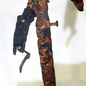 Antonio Panzuto - sculture Ruggini - Figura danzante 5 - Rusty sculpture Dancing figure