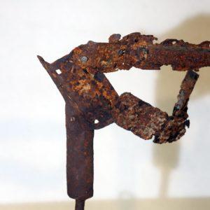 Antonio Panzuto - sculture Ruggini - Figura danzante 6 - Rusty sculpture Dancing figure