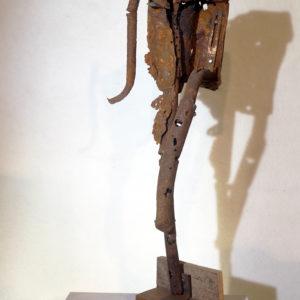 Antonio Panzuto - sculture Ruggini - Figura danzante 10 - Rusty sculpture Dancing figure