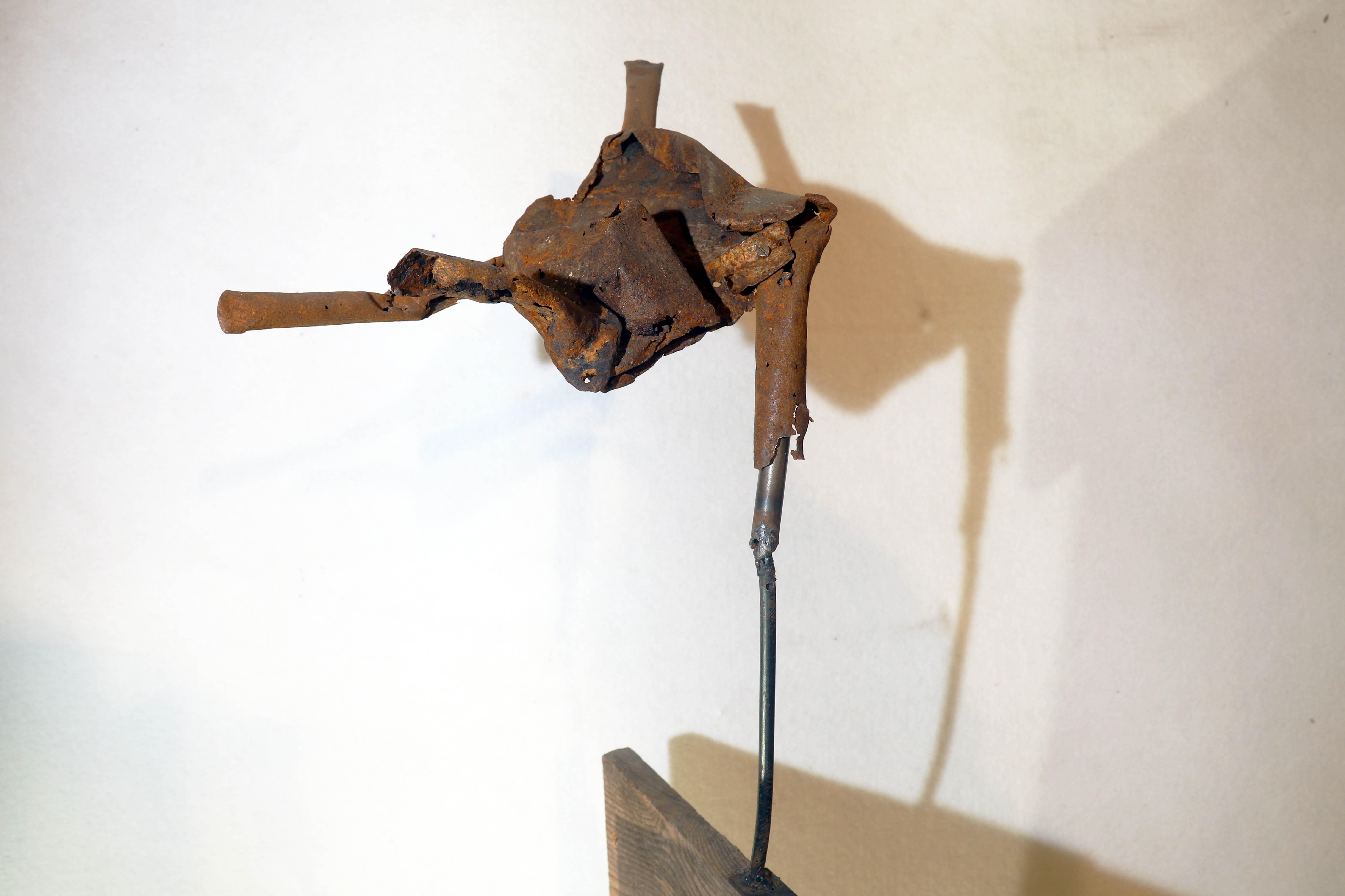 Antonio Panzuto - sculture Ruggini - Figura danzante 11 - Rusty sculpture Dancing figure
