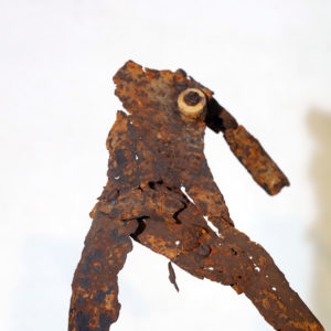 Antonio Panzuto - sculture Ruggini - Figura danzante 12 - Rusty sculpture Dancing figure