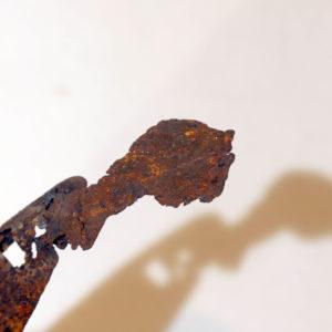 Antonio Panzuto - sculture Ruggini - Figura danzante 8 Il Pensatore - Rusty sculpture Dancing figure The Thinker