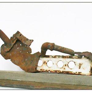Antonio Panzuto - sculture Ruggini - Ballerino a terra - Rusty sculpture Dancer on the floor