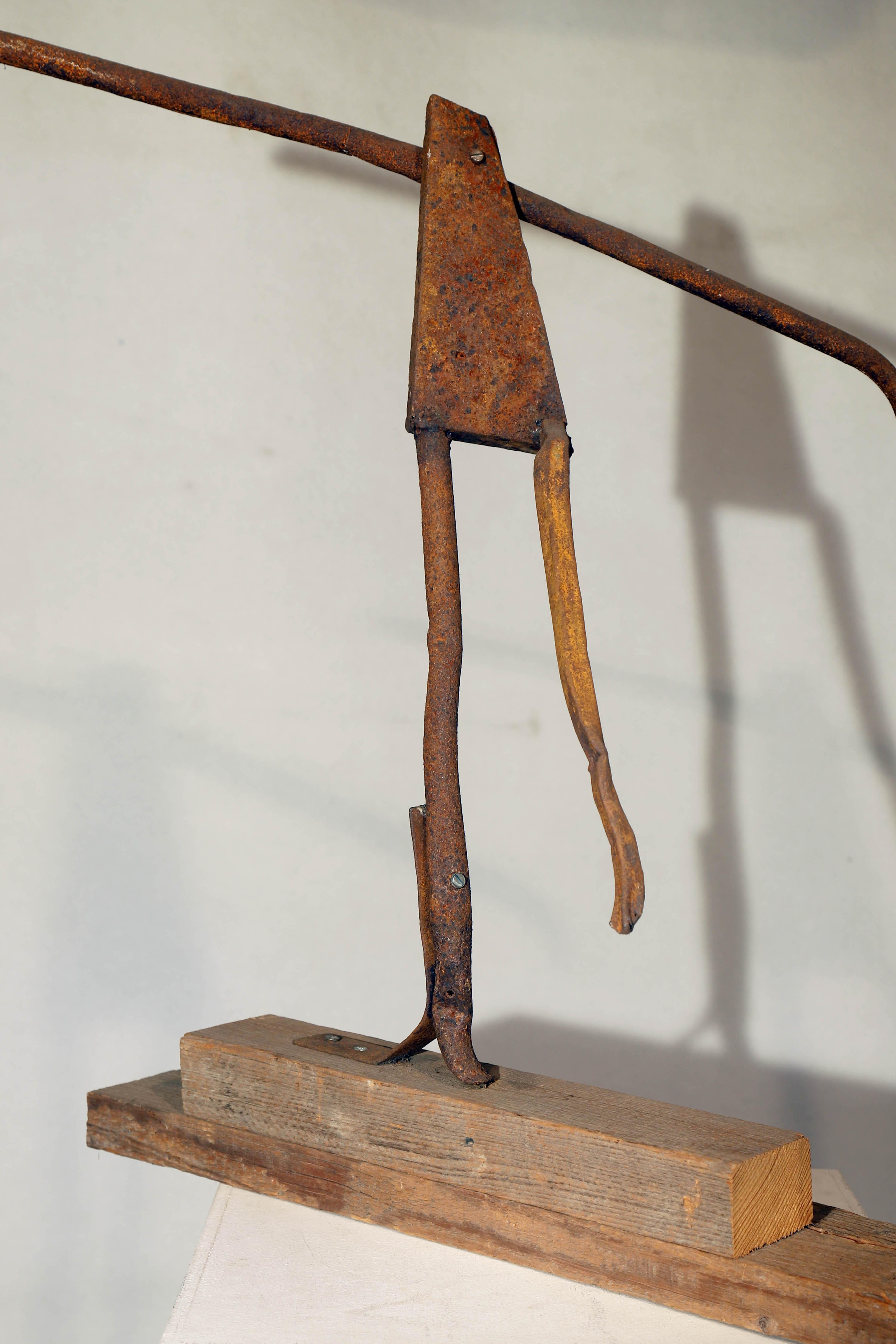 Antonio Panzuto - sculture Ruggini - Figura danzante 1 - Rusty sculpture Dancing figure